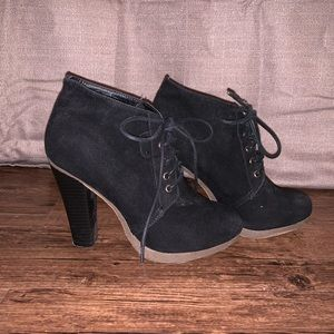 Lace up heel boots